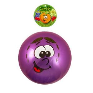 Smelly Fruits Smiley Face Foot Ball 20cm (Uninflated) Assorted Colours - 1 Supplied